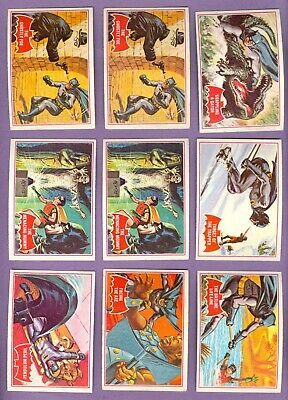 Collection of 59 - 1966 Topps BATMAN (Red) Cards, VgEX