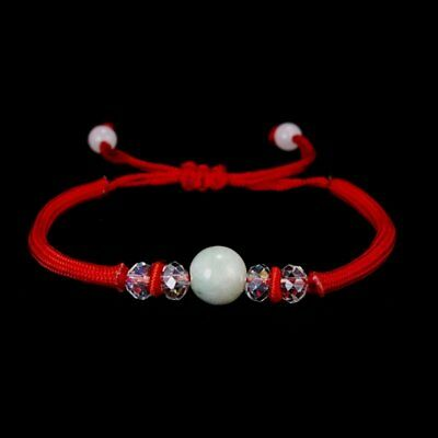 Fashion Handmade Women Bangle Lucky Red Rope Bead Weave Bracelets Chain Jewelry