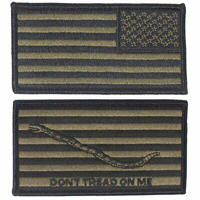 USGI US Navy Flag & First Navy Jack Embroidered Patch Combo - NWU Type III