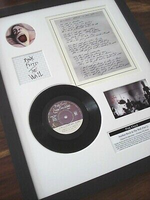"Pink Floyd Another Brick In The Wall 7"" Single + Original Handwritten  Lyrics"