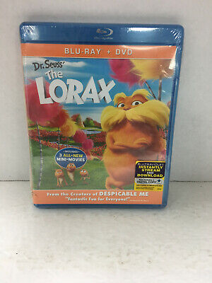 DR. SEUSS THE LORAX new blu-ray + dvd EXTRAS INCLUDE 3 ALL-NEW MINI-MOVIES