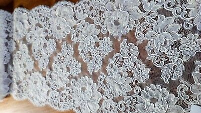 Exquisite English Cluny Lace Fabric Wedding Dress Bridal Bride Bodice Couture