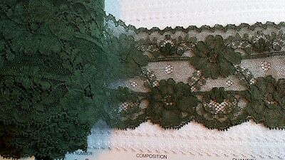 Olive Green English Cluny Fine Cotton Lace Trims Lingerie Underwear Peticoat 38m