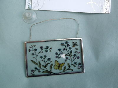 A Hand Painted Decorative Stained Glass Window Hanging