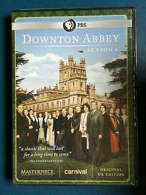 Downton Abbey: Season 4 (DVD, 2014, 3-Disc Set) new/sealed