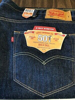 8a576fccfff Levi's 501 Big Tall Original Straight Leg Button Fly Jeans 115010060 54x29