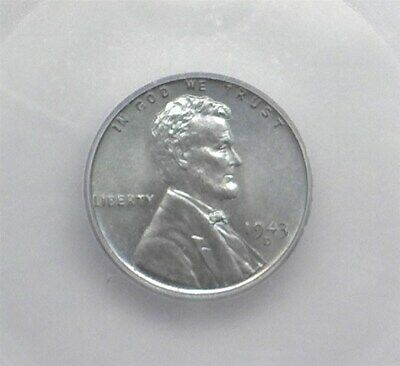 1943-D Lincoln Steel Wheat Cent Icg Ms67 Valued At $160!