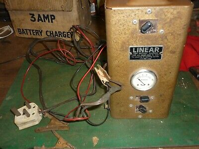 Linear Car Battery Charger Vintage CLASSIC CAR GARAGE TOOLS AUTOMOBILIA BOXED
