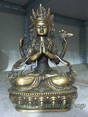 Collectables! China Dynasty Old Bronze Statue Unique Vintage Buddha