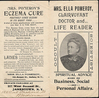 Occult Scientist Mrs Ella Pomeroy Clairvoyant Doctor Life Reader Blood Cure Womb
