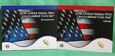 2016 ANNUAL US Mint Uncirculated Coin Set 26 P and D Coins Complete