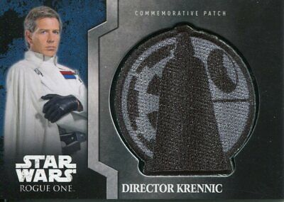 Star Wars Rogue One Mission Briefing Patch Relic Card MP5 Director Krennic