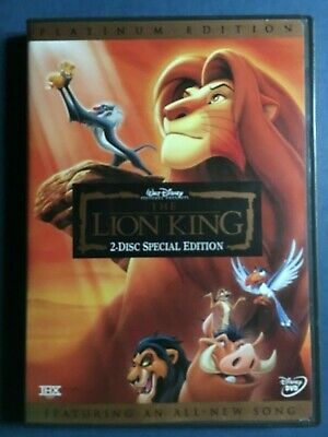 The Lion King (DVD 2003 2-Disc Special Platinum Edition) with slipcover
