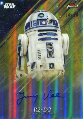 Star Wars Finest 2018 Gold Refractor Autograph Jimmy Vee #04/50
