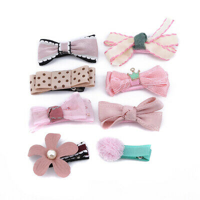8Pcs/Set Cute Bow Girls Hair Clips Hairpins Hair Accessories For Kids Baby S