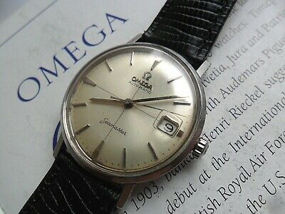 Crosshair Dial S/S Vintage 1960's Men's Omega Seamaster Automatic Watch Runs