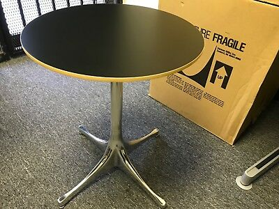 NEW George Nelson Pedestal Side Table Herman Miller Modern aluminum chrome base