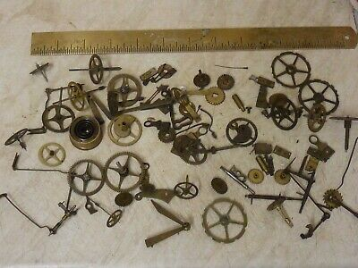 Useful Lot Antique French  Movement Parts - Spares (B)