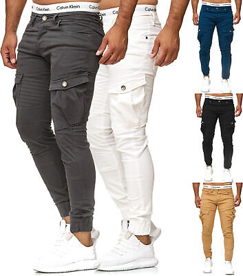 Uomo Cargo Jogger Chino Stretch Pantaloni jogg JEANS Sweatpants Sweathose MP 120068