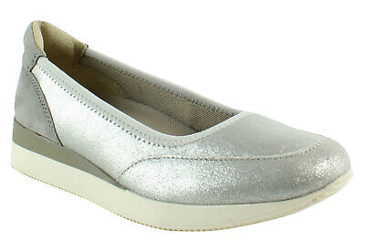 0e5005a87aa Naturalizer Womens Junction Silver Fashion Shoes Size 5.5 (335759)