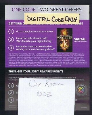 HD Digital Code ONLY f/ WAR ROOM - Digital Code ONLY -  NO DISCS INCLUDED