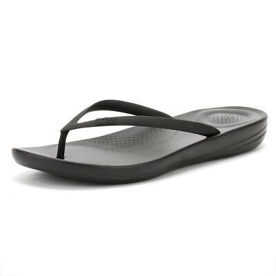 0b83888a1 Fitflop  38 Iqushion Ergonomic Synthetic Thong Sandals Black Size 10M (42)