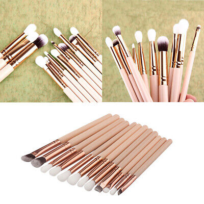 12x Pro Makeup Brushes Set Foundation Powder Eyeshadow Eyeliner Lip Brush Tool Z