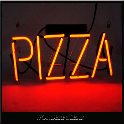 """PIZZA"" Neon Sign Beer Pub Bar Store Party Custom Decor Handmade Vintage Light"