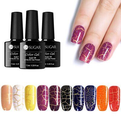 UR SUGAR 7.5ml Crepitar Esmalte de Uñas UV Gel Nail Art Crackle UV Gel Polish