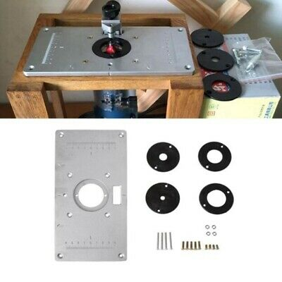 Aluminum Router Table Insert Plate With Ring For Woodworking 235 x 300 x 8mm