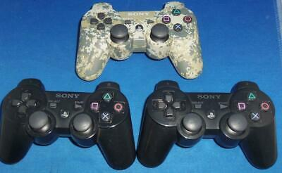Lot of 3 Sony Playstation 3 Wireless PS3 Controllers BROKEN FOR REPAIR OR PARTS