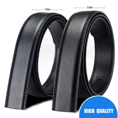 3.0cm Fashion Automatic Belt Buckle Leather Waist Strap Mens Business Waistband