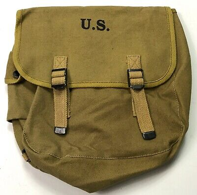 Wwii Us Airborne Paratrooper M1936 M36 Musette Jump Bag-Od#9