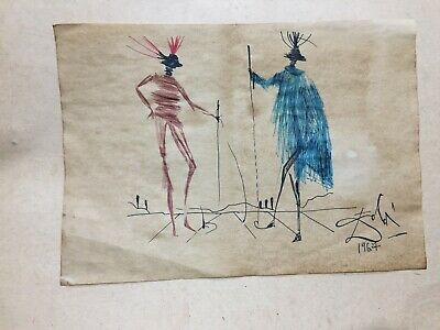 Salvador Dalí Drawing On Paper Hand Made Signed Signature Sealed