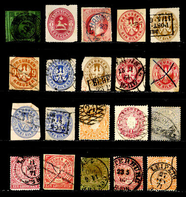 German States: Prussia, Saxony, North German Confed. Classic Stamp Collection