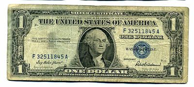 1957 Silver Certificate Us Paper Money One Dollar Bill F32511845A $1 Note#1220