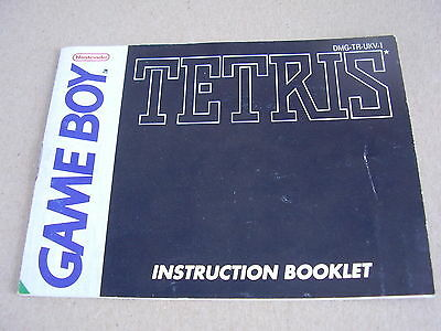 Nintendo Game Boy Replacement Instruction Manual Tetris