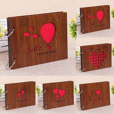 8 Inches Memorial Removable Birthday Gifts Photo Wedding DIY Album Wood