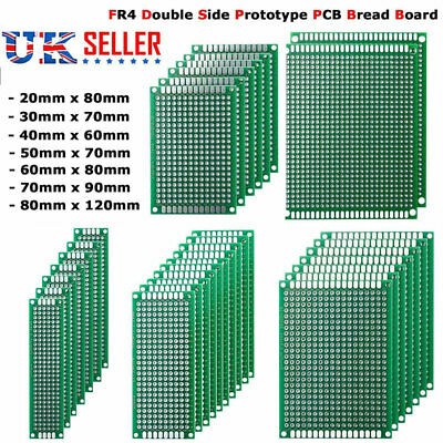 20x Universal FR4 Prototype PCB Bread Board Double Side Tinned Printed 7 Size
