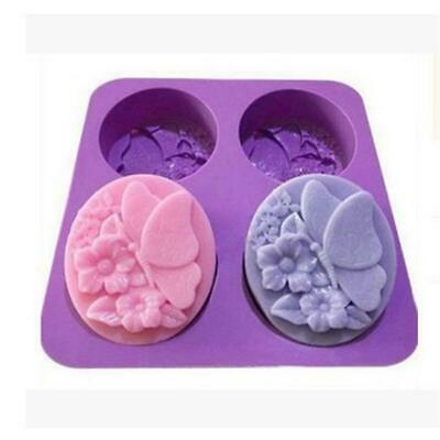 Cake Mold Butterfly Flexible Silicone Mould For Candy Chocolate Soap Candle C