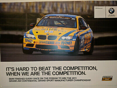 """Poster 2-Pack BMW Turner E92 M3 / DINAN Riley Prototype 35.5"""" X 25.5"""" 2-sided"""