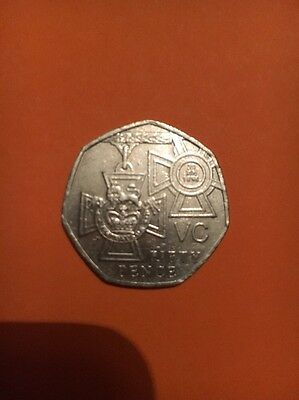 RARE BRITISH  2006 50p (fifty pence) coin. VC Victoria Cross 150th anniversary