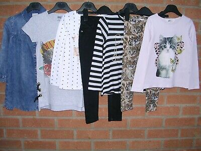 NEXT TU H&M etc Girls Bundle Dress Tops Jeans Leggings Age 4-5 110cm