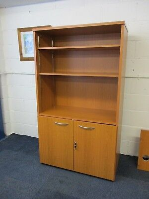 Tall Office Shelving Unit With Cupboard 100 cm W x 52.5 cm D x 172.5 H Lot 15