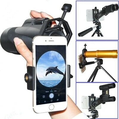 Telescope Spotting Scope Microscope Mount Holder Mobile Phone Camera Adapter USA