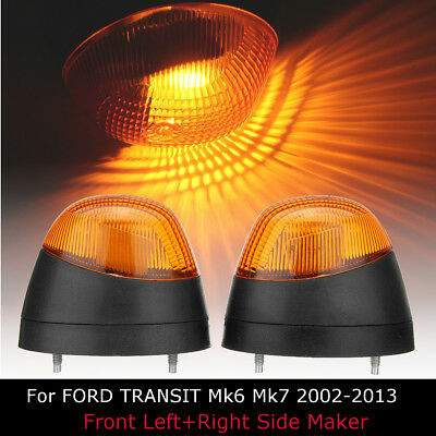 2pc Front Right Left Side Indicator Light Lamp Repeater For FORD TRANSIT Mk6 Mk7