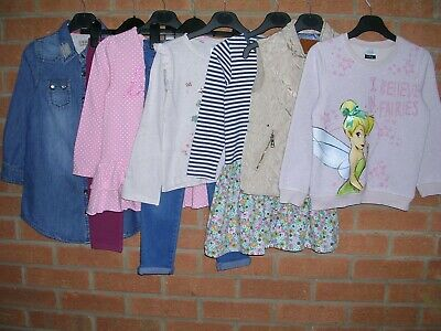 NEXT ZARA DISNEY etc Girls Bundle Tops Dress Jeans Gilet Age 5-6 116cm