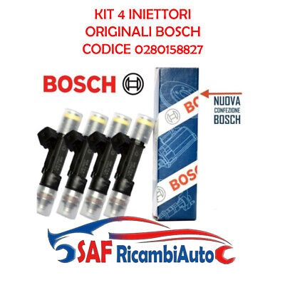 Kit 4 Iniettori Metano Bosch Fiat Multipla (186) 1.6 Natural Power Blupower