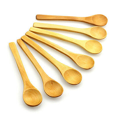6x Bamboo Utensil Kitchen Wooden Cooking Tools Spoon Spatula Mixing New Arriv ca