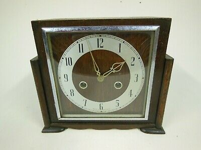 Vintage Smiths Wood Cased Mantel Clock (not working - for restoration or parts)